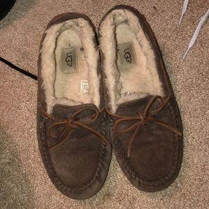 Brown Ugg women's moccasins